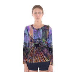 Downtown Chicago Women s Long Sleeve Tee