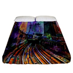 Downtown Chicago Fitted Sheet (california King Size)