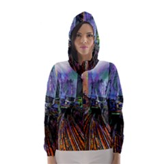 Downtown Chicago Hooded Wind Breaker (women)