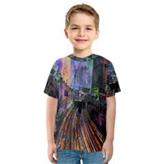 Downtown Chicago Kids  Sport Mesh Tee