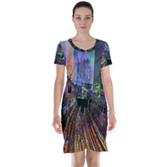 Downtown Chicago Short Sleeve Nightdress