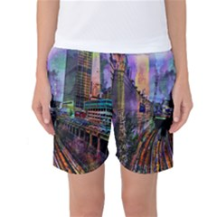 Downtown Chicago Women s Basketball Shorts