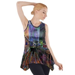 Downtown Chicago Side Drop Tank Tunic