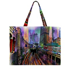 Downtown Chicago Large Tote Bag