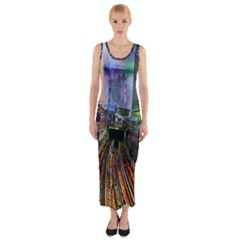 Downtown Chicago Fitted Maxi Dress