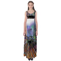 Downtown Chicago Empire Waist Maxi Dress
