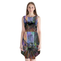 Downtown Chicago Sleeveless Chiffon Dress