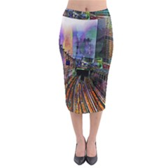 Downtown Chicago Midi Pencil Skirt