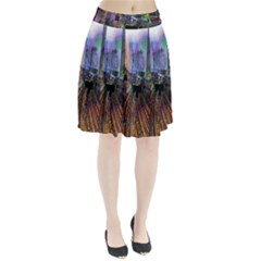 Downtown Chicago Pleated Skirt
