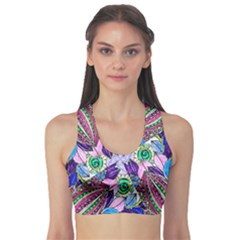 Wallpaper Created From Coloring Book Sports Bra