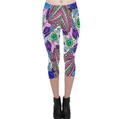 Wallpaper Created From Coloring Book Capri Leggings