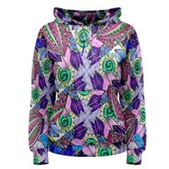 Wallpaper Created From Coloring Book Women s Pullover Hoodie