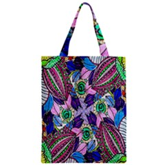 Wallpaper Created From Coloring Book Zipper Classic Tote Bag