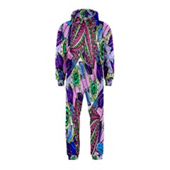 Wallpaper Created From Coloring Book Hooded Jumpsuit (kids)