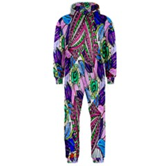 Wallpaper Created From Coloring Book Hooded Jumpsuit (men)