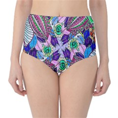 Wallpaper Created From Coloring Book High Waist Bikini Bottoms