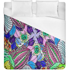 Wallpaper Created From Coloring Book Duvet Cover (king Size)