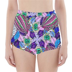 Wallpaper Created From Coloring Book High Waisted Bikini Bottoms