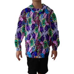 Wallpaper Created From Coloring Book Hooded Wind Breaker (kids)