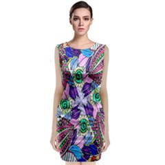Wallpaper Created From Coloring Book Classic Sleeveless Midi Dress