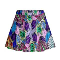 Wallpaper Created From Coloring Book Mini Flare Skirt