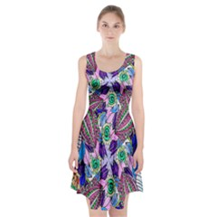 Wallpaper Created From Coloring Book Racerback Midi Dress