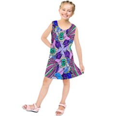 Wallpaper Created From Coloring Book Kids  Tunic Dress