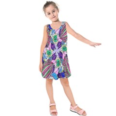 Wallpaper Created From Coloring Book Kids  Sleeveless Dress