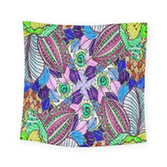 Wallpaper Created From Coloring Book Square Tapestry (small)