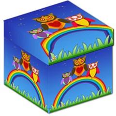 Owls Rainbow Animals Birds Nature Storage Stool 12