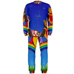 Owls Rainbow Animals Birds Nature Onepiece Jumpsuit (men)