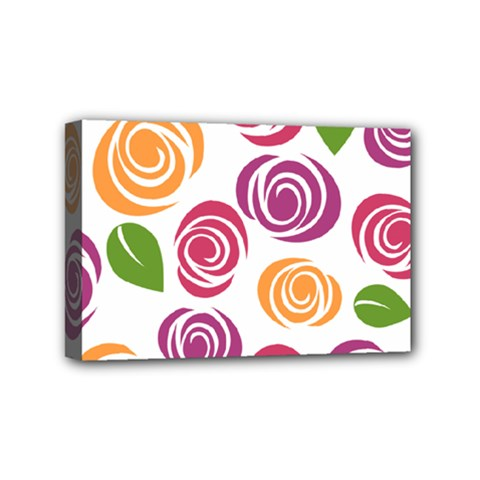 Colorful Seamless Floral Flowers Pattern Wallpaper Background Mini Canvas 6  X 4
