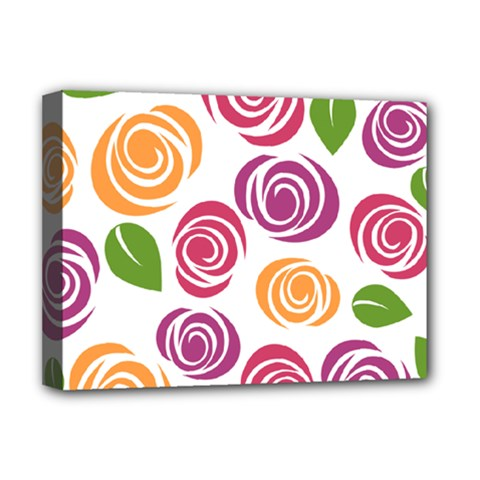 Colorful Seamless Floral Flowers Pattern Wallpaper Background Deluxe Canvas 16  X 12