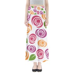Colorful Seamless Floral Flowers Pattern Wallpaper Background Maxi Skirts
