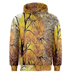Summer Sun Set Fractal Forest Background Men s Pullover Hoodie