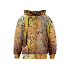 Summer Sun Set Fractal Forest Background Kids  Zipper Hoodie