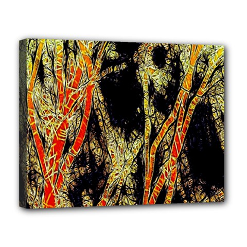 Artistic Effect Fractal Forest Background Canvas 14  X 11