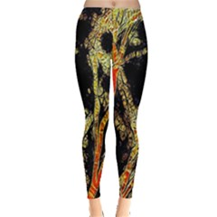 Artistic Effect Fractal Forest Background Leggings
