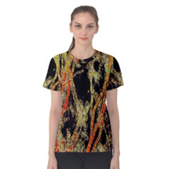 Artistic Effect Fractal Forest Background Women s Cotton Tee