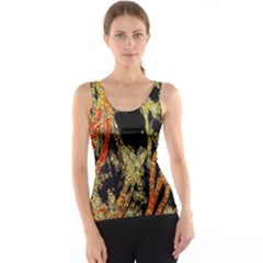 Artistic Effect Fractal Forest Background Tank Top