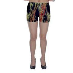 Artistic Effect Fractal Forest Background Skinny Shorts
