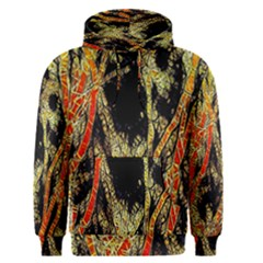 Artistic Effect Fractal Forest Background Men s Pullover Hoodie