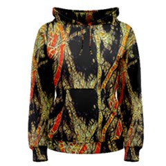 Artistic Effect Fractal Forest Background Women s Pullover Hoodie