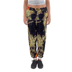 Artistic Effect Fractal Forest Background Women s Jogger Sweatpants