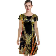 Artistic Effect Fractal Forest Background Cap Sleeve Nightdress