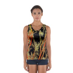 Artistic Effect Fractal Forest Background Women s Sport Tank Top