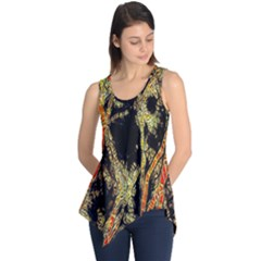 Artistic Effect Fractal Forest Background Sleeveless Tunic