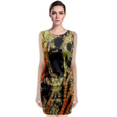 Artistic Effect Fractal Forest Background Classic Sleeveless Midi Dress