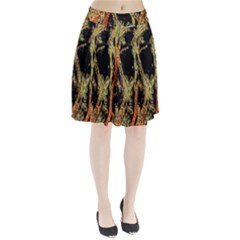 Artistic Effect Fractal Forest Background Pleated Skirt