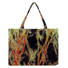 Artistic Effect Fractal Forest Background Medium Zipper Tote Bag